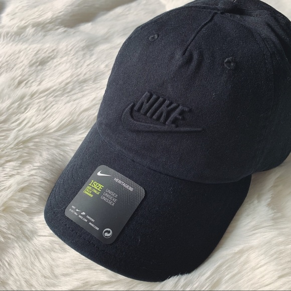 d62eaa6ce5e Nike Black Embossed Logo Unisex Dad Hat